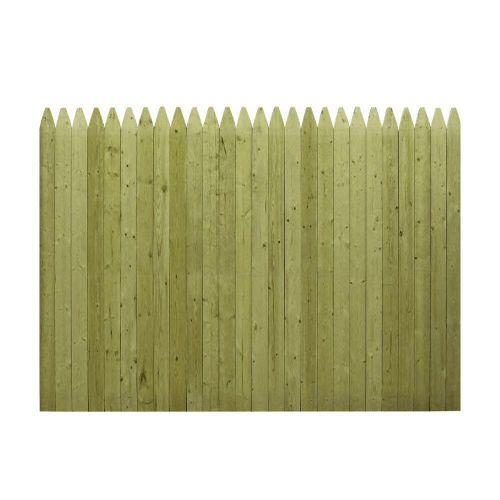 6 ft. x 8 ft. Pressure-Treated Stockade Fence Panel