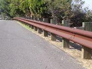 W-Beam Guardrail 25ft Corten (Rustic Brown) Look
