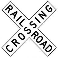 RAILROAD CROSSING (R15-1)