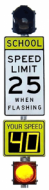 School Zone Flashing Beacon System w/Active Speed Radar (AC)