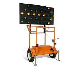 Solar Powered 25 Light Arrow Board Made In Usa U S
